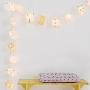 Guirlande lumineuse lampions dorés Mimi'lou