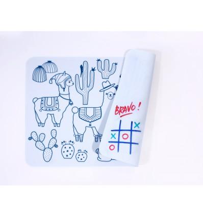 Mini set de table silicone Lama - Super Petit