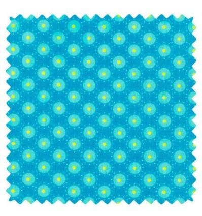 Tissu Petit Pan Bubble Bleu Aruba