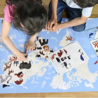 Poster & stickers Animaux du Monde - Poppik