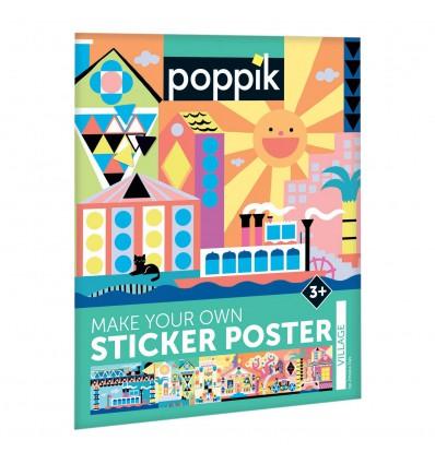 Village / stickers poster - Poppik