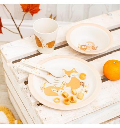 Set vaisselle bambou Forêt - Sass&Belle
