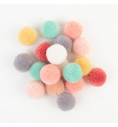 Set de pompons laine Pastel - Rico Design