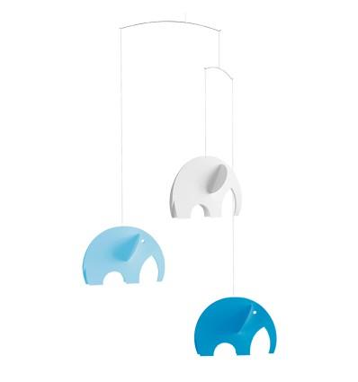 Mobile 3 éléphants bleus - Flensted