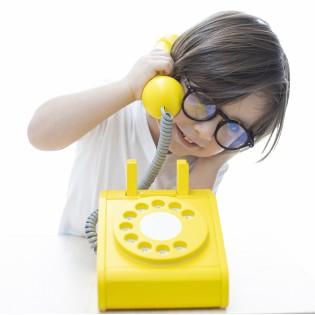 Téléphone rétro jaune - Kiko+gg