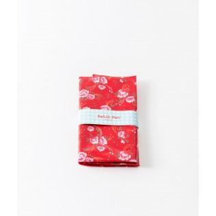 Coupon coton enduit Petit Pan Pivoine Rouge
