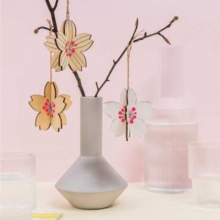 Décoration en bois Fleurs - Rico Design