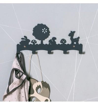 Porte manteaux Faon gris - Eina Design