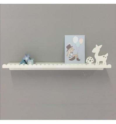 Etagère métal Faon blanc - Eina Design