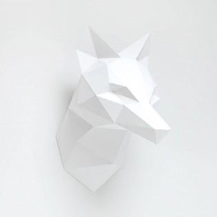 Kit de pliage papier Renard blanc- Trophée assembli