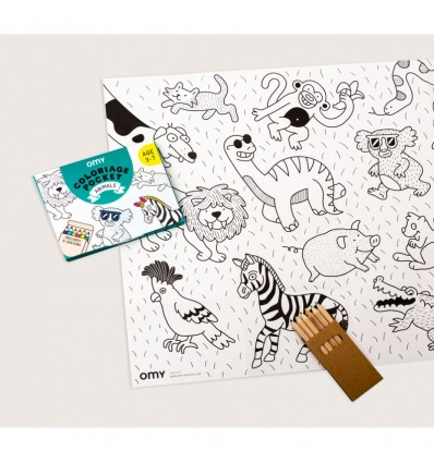 Coloriage pocket Animaux - OMY