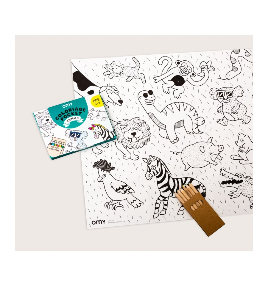 Coloriage Pocket Animaux Omy