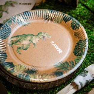 8 assiettes Dinosaures - Artyfête