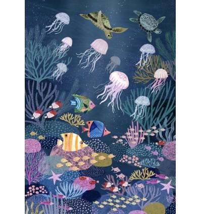 Affiche Fonds Marins Rebecca Jones - Petit Monkey