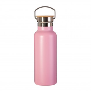 Gourde isotherme Rose inox & bambou - Sass&Belle