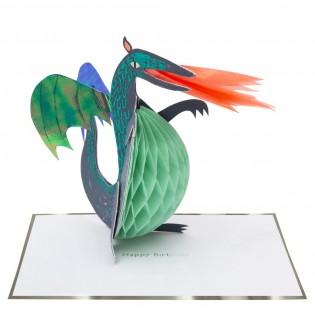 Carte 3D Dragon - Meri Meri