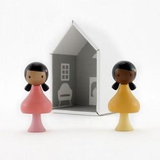 Figurines en bois magnétiques - Ruby & Coco