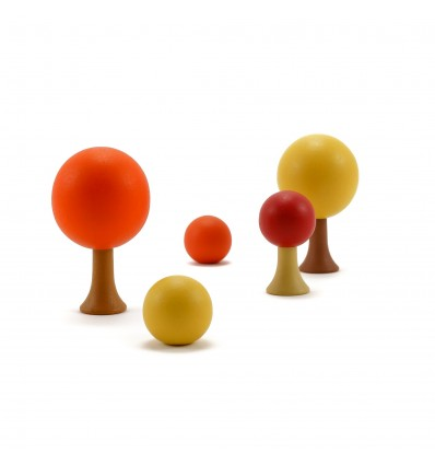 Arbres en bois magnétiques - Automne 8 pièces