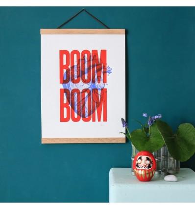 Sérigraphie Boom Boom Rouge A3