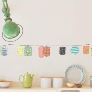 Stickers frise Lampions - Mimilou