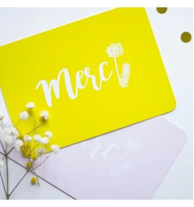 Carte Merci Jaune - My Lovely Thing