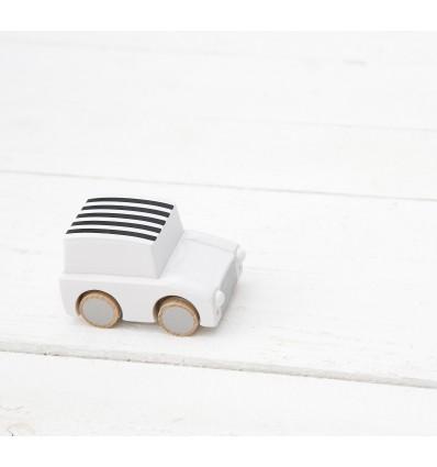 Voiture à friction en bois blanc - Kiko+gg