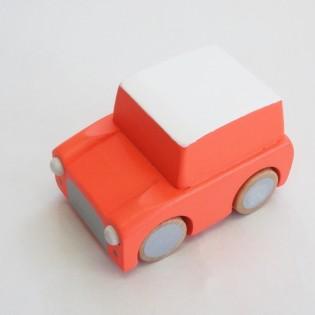 Voiture à friction en bois orange - Kiko+gg