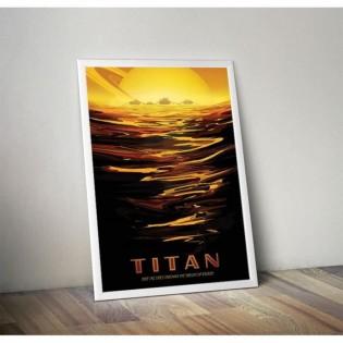 Affiche NASA - Mission Titan