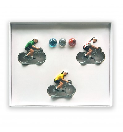 Coffret 3 cyclistes Tour de France - Bernard & Eddy
