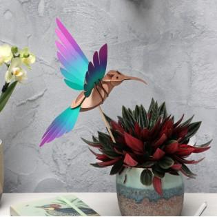 Oiseau DIY Colibri Vert & Violet - Assembli