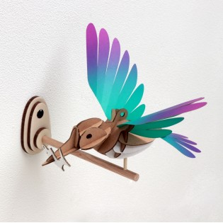 Oiseau DIY Martin Pêcheur Vert & Mauve - Assembli