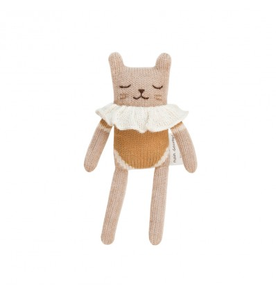 Doudou Chat maillot moutarde - Main Sauvage