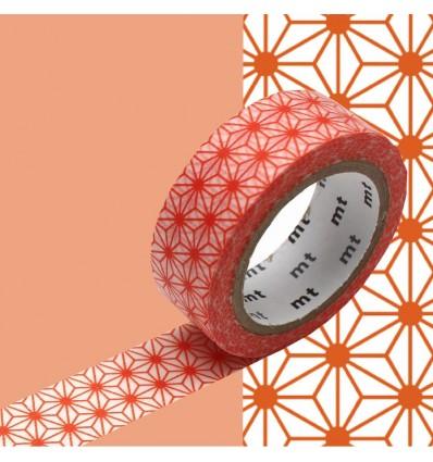 Masking Tape Asanoha orange