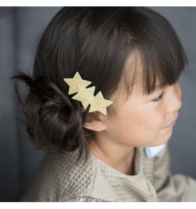 Barrette 3 étoiles or - Luciole et Petit Pois