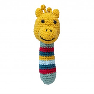 Hochet girafe en crochet - Global Affairs