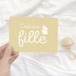 "Carte ""C'est une fille"" - Zü (zu)"