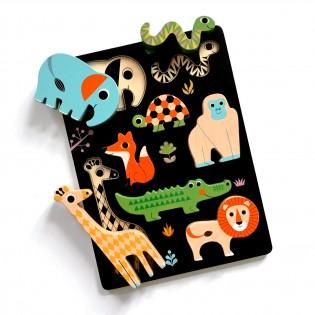 Puzzle encastrement Animaux Ingela Arrhenius - OMM Design