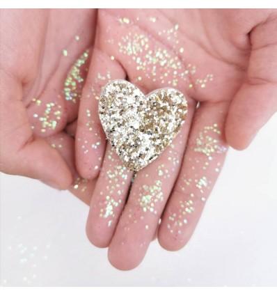 Broche Coeur doré - Luciole & Petit Pois