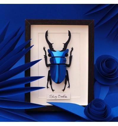 Insecte DIY Stag Beetle bleu métallique - Assembli