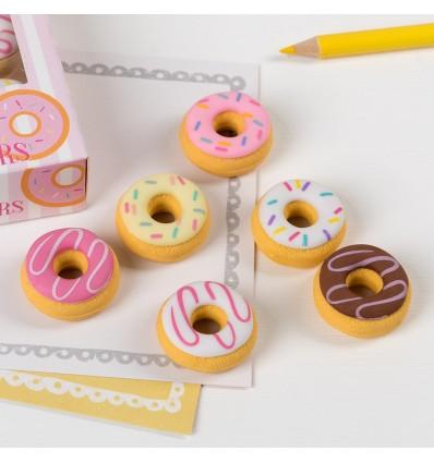 6 gommes en forme de donuts - Rex London