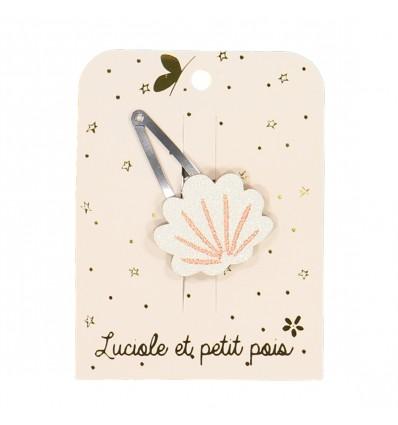 Barrette Coquillage Pailleté - Luciole et Petit Pois