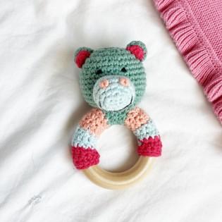 Hochet Hippopotame en crochet - Global Affairs