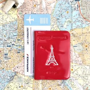 Protège passeport vinyle rose