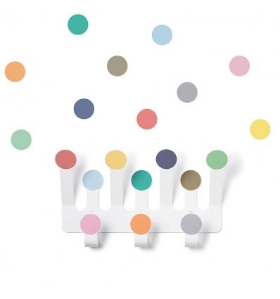 Porte manteaux Pois Multicolores - Tresxics