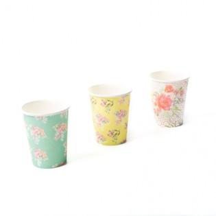 12 gobelets en carton Tea Time