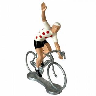 Figurine cycliste Vainqueur Maillot à pois - Bernard & Eddy