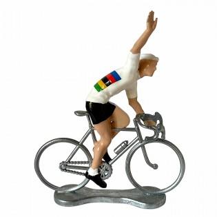 Figurine cycliste Vainqueur Champion du Monde - Bernard & Eddy