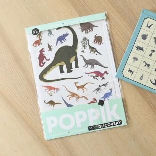Mini poster & stickers Dinosaures - Poppik