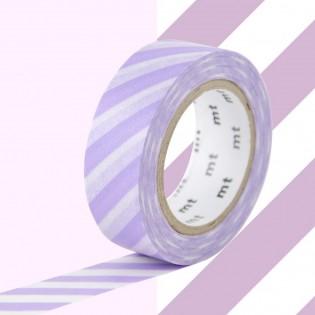 Masking Tape Rayures Lilas