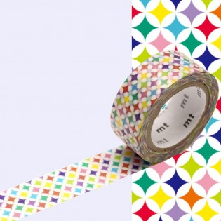 Masking Tape Cercles Multicolores